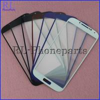 DHL 100pcs / lot pour la galaxie S4 i9500 i9505 de i337 S4 mini I9190 I9195 écran tactile externe de verre de verre de l'écran tactile + écran