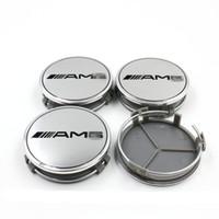Wholesale New AMG White Emblem Badge Wheel Center Cap For MERCEDES BENZ