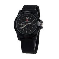 al por mayor reloj del ejército suizo deporte militar-Reloj militar suizo de lujo Reloj analógico SWISS ARMY logo Nylon band Relojes TRENDY SPORT MILITARY Reloj de pulsera para hombre reloj 6 color