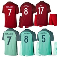Wholesale Thai quality A Portugal Kits away green jersey RONALDO fans version Portugal MOUTINHO Football Shirts