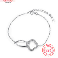 assured crystals - New Popular Designer Bracelet Charms Irregular Connected Assured Sterling Silver Womens Bracelets Zircon CZ Crystal Stone Jewelry