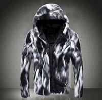 Wholesale Fall Hooded thicken warm faux fur coat mens leather jacket men jaqueta de couro overcoat Villus autumn winter thermal outerwear