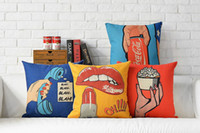 art telephone - funny cool Pop Art telephone cake red lips drink pattern cushion cover home decorative throw pillow Case