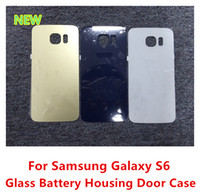 Wholesale OEM New Glass Battery Back Cover Housing Door Case High Quality Replacement Parts For Samsung Galaxy S6 G920