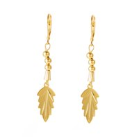 acting real - The latest fashion hot style maple leaf pendant earrings Real gold plating color manufacturer euramerican style health care act th