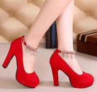 Wholesale Shoes Zipper Flower - 2016 women dress shoes high heels Top Fashion high heel sexy zipper waterproof women's shoes diamond red pumps shoes shoes women high heels
