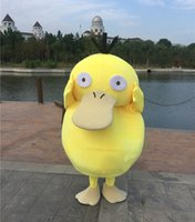 Wholesale psyduck Animal Mascot Costumes Fancy Dress Adult Halloween Christmas Party Cartoon Mascot Costume