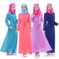 Wholesale Muslim Abaya Long Dress For Women Islamic Dresses Fashion Clothing Arab Long Sleeve Clothes Muslim Dresses