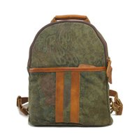 Wholesale Camouflage Shoulder Bags Canvas Packsacks Patchwork with Leather Travelling Bags for Men and Women Birthday Gift