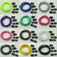 Wholesale Women Men Unisex Elastic No Tie Locking Shoelaces Trainer Running Athletic Sneaks Shoelaces Party Camping shoelaces for growing canvas shoes