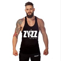 Wholesale ZYZZ Bodybuilding Professional Fitness Tank Tops Cotton Vest GYM Fine With Paragraph Bodybuilding Sports Tank For Men