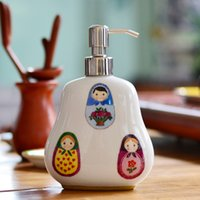shower gel - 400ml New Brand Ceramic Hand soap dispenser bottle hotel hand sanitizer bottle shower gel shampoo Container