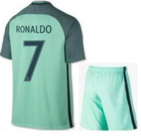 active fans - Thai quality A Portugal away green soccer jersey RONALDO fans version Portugal adult kit Football Shirts