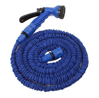 Wholesale 100FT Expandable Flexible Garden Water Hose With Spray Nozzle Head Blue fast shipping and fee