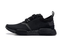 authentic brand shoes - NMD Runner Primeknit Boost Authentic Shoes NMD Mens Women s Athletic Running sneaker Shoes Black colors Running Shoe Brand NMD Boost