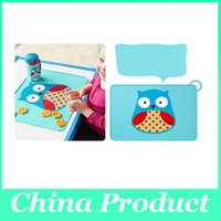 Wholesale Silicone Waterproof Cartoon Animal Placemat for Baby Feeding Placemats Non Slip Dining Table Mat Foldable and Portable Tablemats Pad