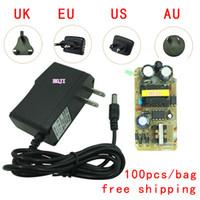 Wholesale 100pcs bag DC24V500ma power adapter V0 A transformer AC V V to dc24V0 A US EK EU AU plug