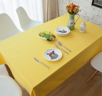 Wholesale Home yellow square tablecloth multi size rectangle tablecloths solid color dust covered table cloths multi color table cloth