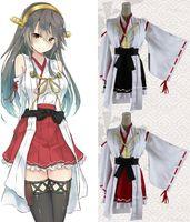 battleships games - Colors Anime Kantai Collection Kimono Cosplay Costumes Kongou Haruna and Ahruna Kancolle Fleet Girls Battleship Combat Dress