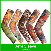 baseball tattoos - Fashion Arm Sleeves Tattoo Sleeves Flexible wearing Outdoor Sports Nylon Cycling Baseball Fishing Sunscreen Sleeves Colors
