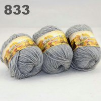 Wholesale colorful hand knitted wool line segment dyed coarse lines fancy knitting hats scarves thick line Mom gray