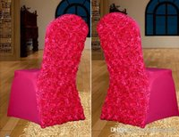 Cheap Lycra Chair Cover Best Chair Cover With Rosette Satin At Back
