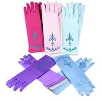 baby princess decorations - Children s cartoon Frozen Finger Gloves Baby Kids girls party gloves birthday decoration glove printing glove Frozen Princess