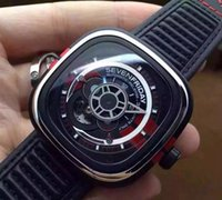 automatic mustang - 2016 Hot explosion models sevenfriday original Mustang Anniversary Edition full KW factory S7 movement square large dial men watch