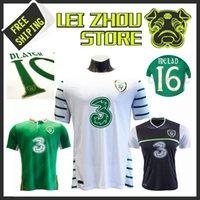 Wholesale Anna República de Irlanda de fútbol de calidad Tailandesa jersey nuevo Irlanda WALCERS LARGO Blanco Negro camiseta de fútbol Verde