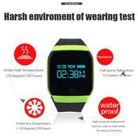 Wholesale E07S Waterproof Swimming Smart Band Bracelet Bluetooth Call SMS Remind Smartband Wristband Pedometer Sleep Monitor OLED Display