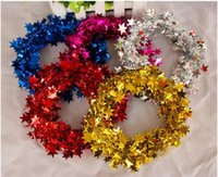 christmas wreath ring - DIY Christmas Tree Wreath christmas decoration Star garland hangings gold christmas wreath ring base door hanging garishness decorations