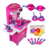 Wholesale Children play toy multifunctional kitchen cooking cooking kitchen utensils and tableware girl combination simulation