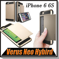 apple logo metal - With Card Slot Hybird Neo Thor Case Cover With LOGO Wallet Case For iPhone S Plus Galaxy S7 S6 Edge S5 NOte Note Free Ship MOQ