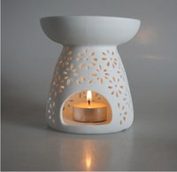 aroma scent - Classical Spend Ceramic Candle Sweet Fragrance Lamp Aing Kind of Aroma Stove Design Manual Hollow Out More Romantic Aroma Stove