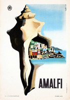 beauty still life - Amalfi Art Beauty Travel Italy View Landscape Vintage Retro Kraft Decorative Poster DIY Wall Stickers Posters Home Decor Gift