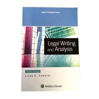 analysis book - Hot Legal writing and analysis Aspen Course book th edition by Linda H Edwards Paperback