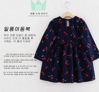 Wholesale 2016 Quality Cherry Pleated Dresses Girl Fashion Princess Gauze Bow Vest Dress Girls Child Clothes Cute Kid Dresses Children Clothing A0043