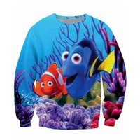 animal jumpers - Finding Nemo Crewneck Sweatshirt Dory and Marlin Cartoon Jumper Women Men Fashion Clothing Jogging Sport Tops Sweats Hoodies