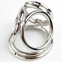 Wholesale Male Stainless Steel Cock Ring Cokring For Man Metal Ball and Penis Toys