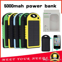 charger solar mobile charger - Universal mAh Solar Charger Waterproof Solar Panel Battery Chargers for Smart Phone iphone7 Tablets Camera Mobile Power Bank Dual USB