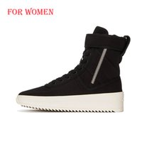 justin boots - LTTL High State Casual KY ankle Boots Full Grain Leather Justin Bieber Fear of God Shoes Black Womens winter military boots
