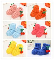 Wholesale Anti skid Baby cartoon cotton shoes newborn warm shoes moderate baby slip shoes learn to set Unisex safe and comfortable