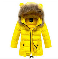 Wholesale NEW hot high quality Children down jacket Girls long section warm down jackets Girl winter Duck Down Parkas