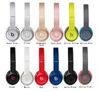 bass shipping - Refurbished Beats solo2 Wireless Headphones Colors Solo Bluetooth Headset Brand New Sealed Perfect Bass DHL Shipping