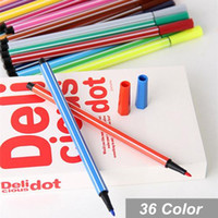Wholesale 36 color Water color pen brush Marker Highlighter Stationery copic markers art supplies material school