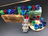 Wholesale Vaporizer Resin Drip Tips for SMOK TFV8 Pretty pattern resin drip tips for RDAs Vapor Tank DHL Free Ship