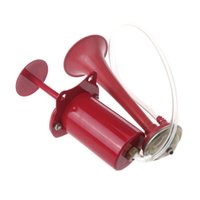 bell pump - Ultra Loud Plastic and Iron Cycling Bike Bicycle Air Horn Pump Bell Ring db Red