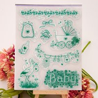 baby shower crafts for kids - Baby shower Transparent Clear Silicone Stamps for DIY Scrapbooking Card Making Kids Crafts Fun Decoration Supplies