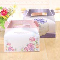 bakery supplies boxes - Portable Handle Macaron Bakery Cake Boxes Mousse Cookies Pastry Packaging Boxes