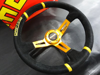 Wholesale HOT New Arrival Universal mm Inch Car Auto Momo Modified Matte Material Automobile Race Steering Wheel with Horn Button